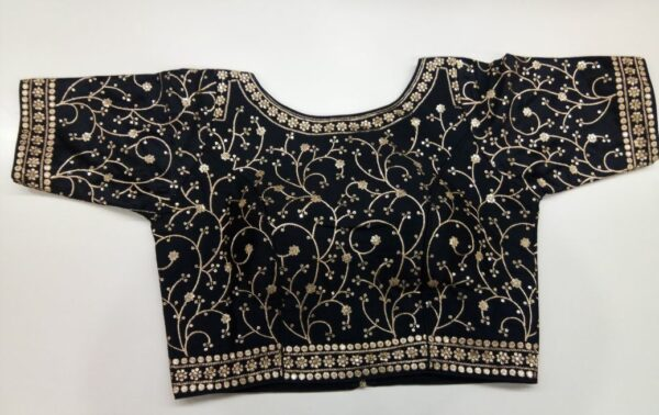 Black and Gold Blouse Details
