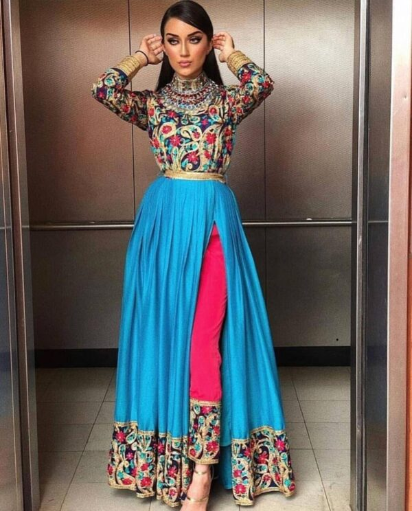 Blue and Pink Afghani Dress
