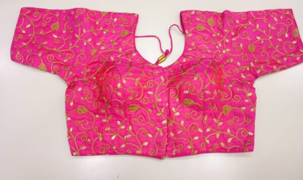 Hot Pink and Gold Blouse