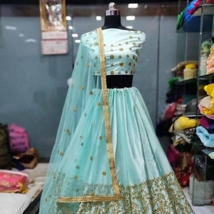 Light Blue Party wear Lehenga