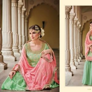 Pink Gharara Suit
