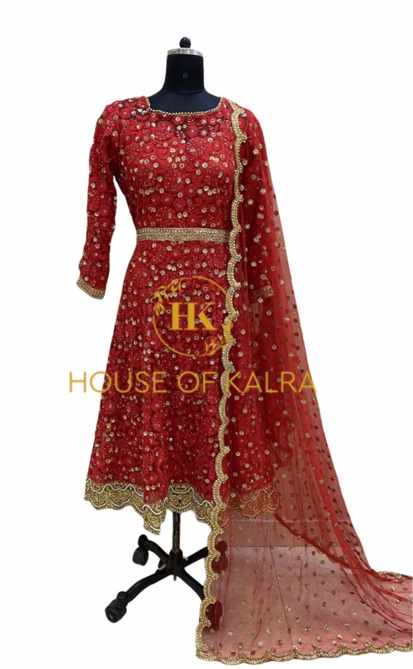 Buy Online Petal Short Anarkali Bridal Dress Set